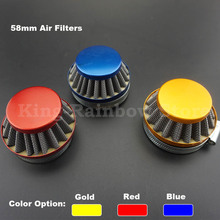Colorful Mini Moto 58mm Air Filter Fits 2 Stroke 47cc 49cc Mini ATV Quad Dirt Bike Pocket Bike Pit Bike