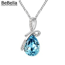 BeBella crystal pendant necklace made with Austrian crystals from Swarovski for 016 women gift