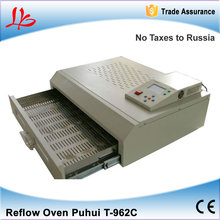 No Tax to Russia & Ukraine, lead free Puhui T-962C infrared bga ic reflow machine, T962C reflow oven