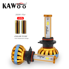 KAWOO Car LED Headlight 9006 HB4 Lonowo Lamp 72W 6500K 8000LM Automobile Headlamp Auto LED Light Diy Color Temperature Styling