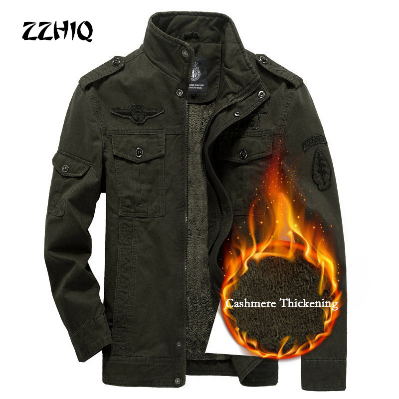 ESDY Winter Thicken Men Jacket Jean Military Plus 6XL Army Soldier Cotton Air Force One Male Brand Clothing Men's Jackets Coats