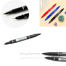 Permanent Marker Doubled Headed Hook Line Fine/Thick Pen Ink Tool Waterproof