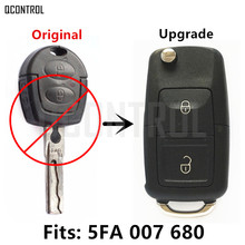 QCONTROL Upgrade Car Remote Key for SKODA Octavia I 5FA 007680 433MHz ID48 Blank Chip