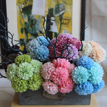1 pcs New Artificial Silk Chrysanthemum Home Wedding Decor 7 Colors Ball Chrysanthemum Bouquet Wedding Party Home Decoration