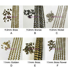Free shipping 5meters 9.5mm11mm Brass/Nickel/Bronze Plated Decorative Nail Strips/Nailing Tapes,Tacks,Hobnails, Upholstery Nails(China)