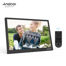 Andoer 12inch LED Photo Frame Support 1080P Video Shuffle Play Aluminum Alloy with Remote Control Christmas Birthday Gift(China)
