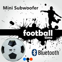 Mini Sports portable Football Bluetooth subwoofer speaker Built in 600mAh battery  home theater music PU Leather Roly Poly audio