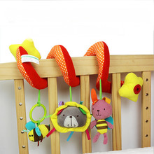 0-24 Month Creative Infants Bee Bear Rabbit Plush Toy Animals Soft Plush Doll Kids Cute Toy Hanging On the Bed AY991132(China)