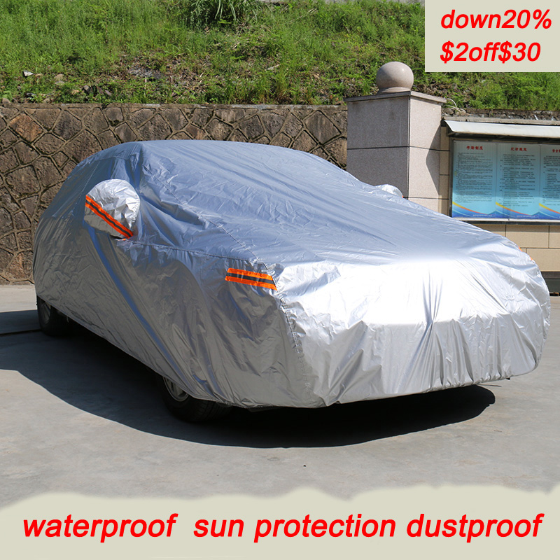 Kayme waterproof car covers outdoor sun protection cover for car reflector dust rain snow protective suv sedan hatchback full s title=