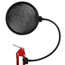 TGETH Studio Microphone Mic Wind Screen Pop Filter/ Swivel Mount / Mask Shied For Singing Recording with Gooseneck Holder
