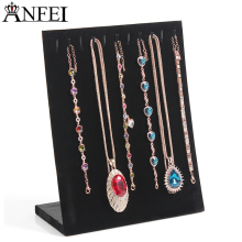 Necklace Display Velvet Jewelry Display board Jewelry Organizer Holder hook Necklaces Display Frame Accessories For Jewelry A163