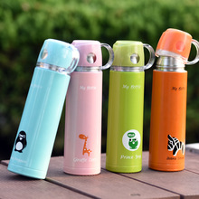 VILEAD Creative Cartoon Water Cup Stainless Steel Thermos Vacuum Flasks Office Insulated Cup Lovely Water Bottle Student Gift