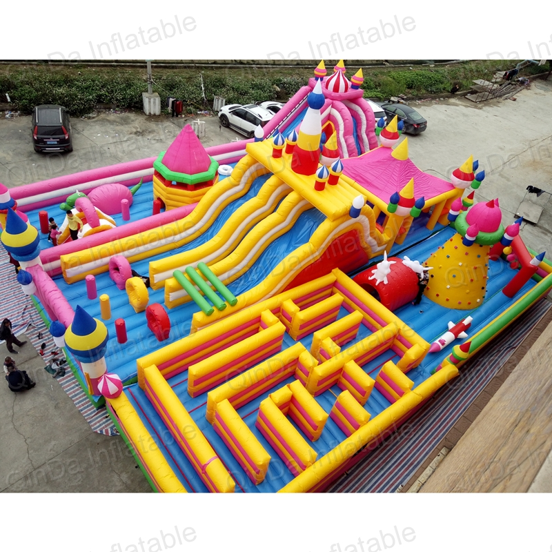 inflatable bouncer slide fun city castle(65)