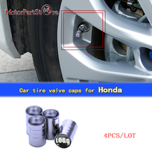 4pcs/lot Metal Chrome Wheel Tire Valve Caps Stem Air Cover for Honda Silver Chrome Car Wheel Stem Cover $(China)