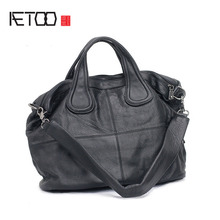 AETOO The first layer of leather leather handbags European station pure leather o big bag temperament Mature British wind hand b(China)