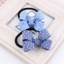Baby girl's Classic Plaid headdress cute bow hair ring headwear hair accessories for children make kids fashion lovely(China)
