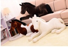 simulation animal 70x40cm horse plush toy prone horse doll ,birthday gift w2196