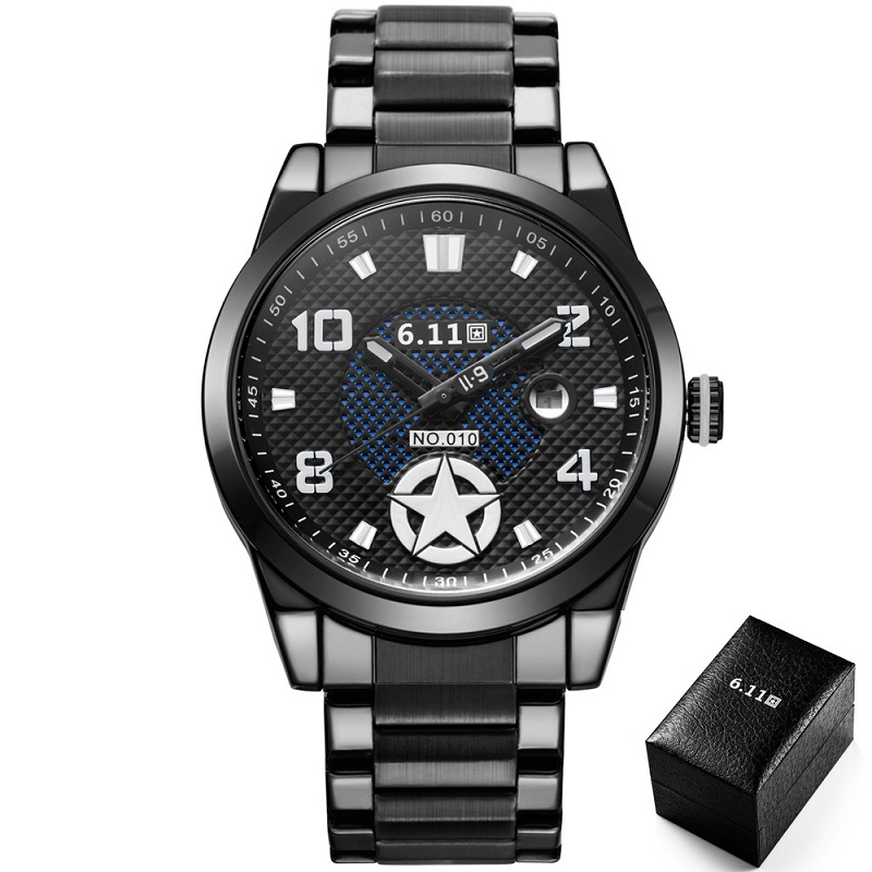 TIMI 2018  Fashion Solar-powered watch Full Steel Clock Army Military Outdoor Quartz Wrist Watch Casual Sports watches NO.010A<br>
