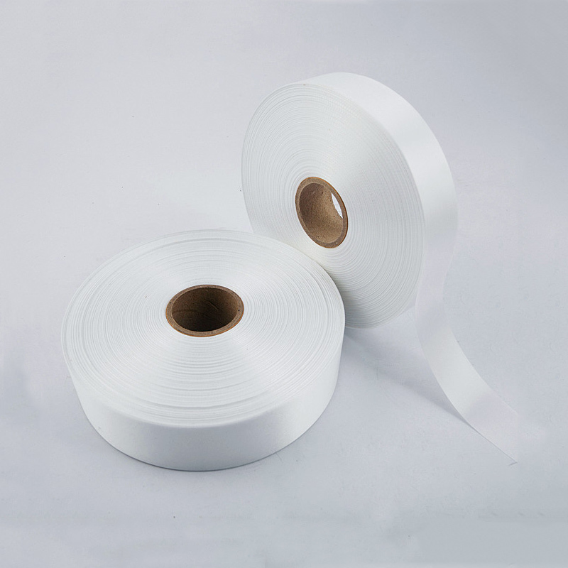 High Quality Silk 35mm*200m blank washing mark high-end laundering tags for garment provide custom order<br>