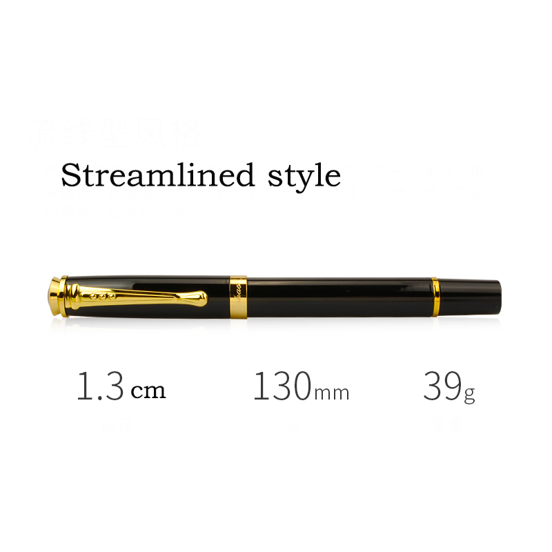 Jinhao 500 Black Fountain Pen High Quality Metal Nib 0.5mm 1.0mm Ink Pens Office Supplies Business Gifts