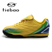 TIEBAO Professional TF Turf Soles Football Shoes Children Kids Training Shoes Sneakers Outdoor Sports National Flag Soccer Boots