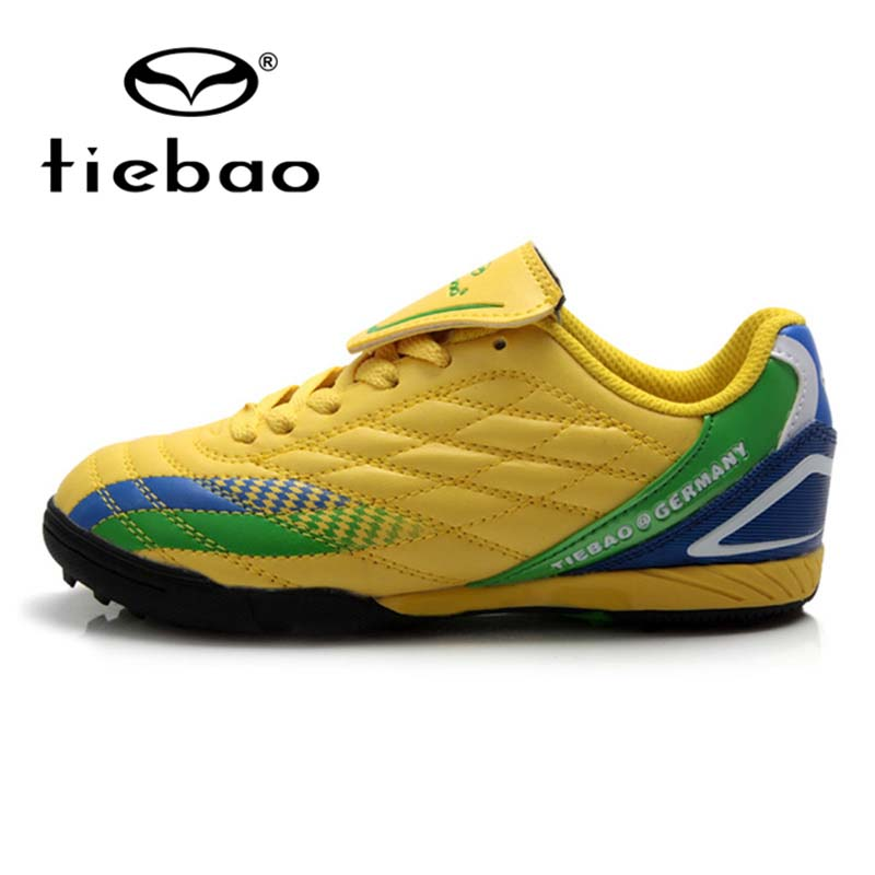 TIEBAO Professional TF Turf Soles Football Shoes Children Kids Training Shoes Sneakers Outdoor Sports National Flag Soccer Boots<br>