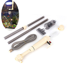Aquarium Battery Syphon Operated Fish Tank Vacuum Gravel Water Filter Cleaner Siphon Fish Tank Tools Aquarium(China)