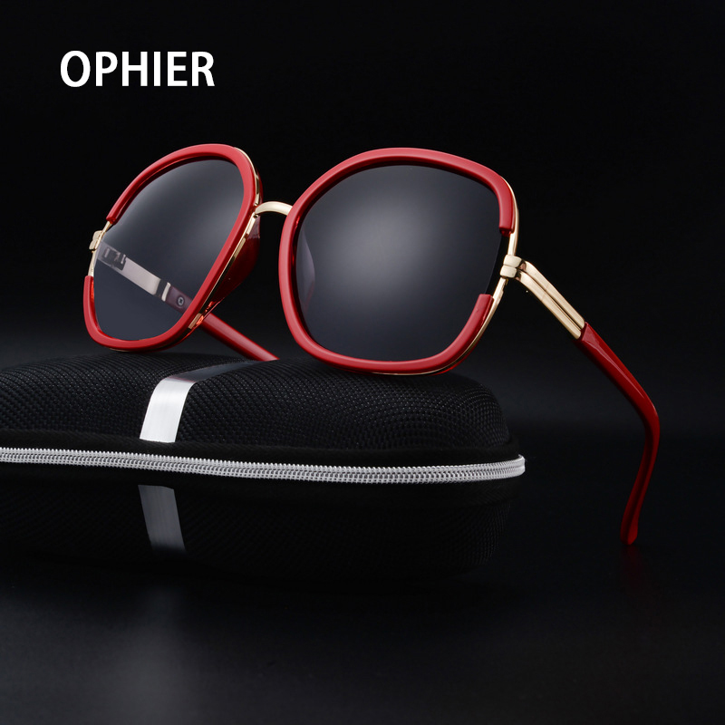 OPHIER High Quality Brand Sunglasses Women Polarized Fashion Brand Designer Sunglasses Women Oculos De Sol Shades With Case<br><br>Aliexpress