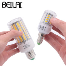 BEILAI 5736 SMD Lampada LED Lamp E27 220V Corn Light E14 LED Bulbs 3W 5W 7W 9W 12W 15W Candle Spotlight Luz Chandelier(China)