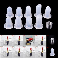New 10 Patterns Silicone Lipstick Mould for DIY Filling Single Cavity 12.1mm or 11.1mm Silicone Lipstick Mould Good Quality(China)