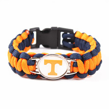 Tennessee Volunteers Custom Paracord Bracelet NCAA College Football Charms Bracelet Pure Hand Weaving Survival Bangle Bracelet