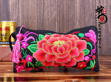 Free Shipping!embroidery coin purse women's handbag national day trend embroidered clutch bag vintage fashion chromophous(China)