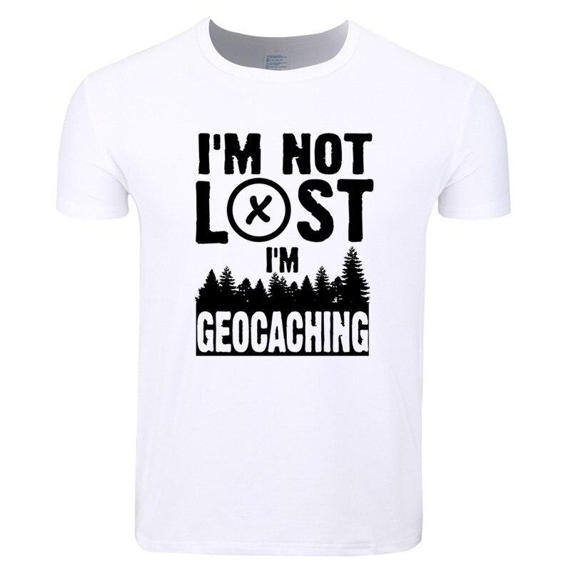 f13570d5cf2e1f Großhandel Männer Drucken Ich Bin Nicht Verloren Ich Bin Geocaching ...