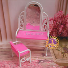 1 sets kids play house furniture dressing table set for barbie doll hous furniture