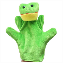 ABWE Cute Baby Child Zoo Farm Animal Hand Sock Glove Puppet Finger Sack Plush Toy NewModel:Frog(China)