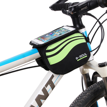 Buy Bicycle Front Touch Screen Phone Bag MTB Road Bike Cycling Mobile Tube Pannier Double Pouch 5.7 inch Cellphone Riding Bag for $8.22 in AliExpress store