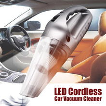 High Power 120W Cordless Vacuum Cleaner Wet&Dry Portable Rechargeable Vacuum Cleaner with LED Light for Car Home(China)