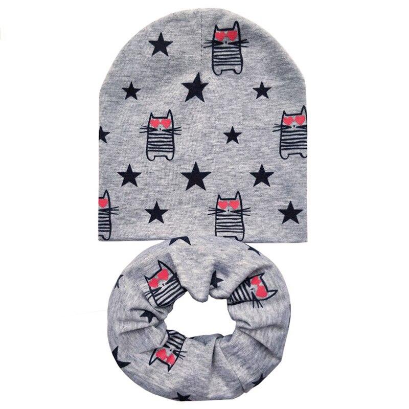 grey cat hat scarf set