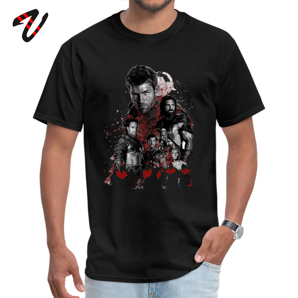 Camisa Funny April FOOL DAY 100% Cotton Fabric Crew Neck Mens Tops & Tees Tops Tees Special Short Sleeve Top T-shirts Spartacus and his rebel leaders 3084 black
