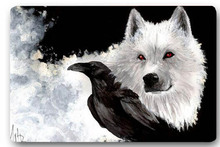 High quality customized Game of Thrones Wolf Crow 40x60cm door mat carpet Bath mat kitchen mats home decoration