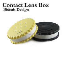 Biscuit Design Unisex Contact Lens Box Eyes Women Men Fashion Cleaning Case Glasses Carry Holder Container