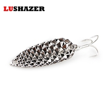 LUSHAZER metal lure catfish spoon fishing lures 5g 10g 15g gold/silver cicada metal lure bass lure for fishing free shipping