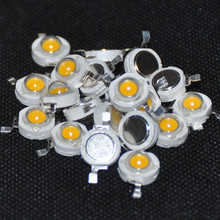 10pcs LED 3 W Diode HIgh Power Beads 3000K 3Watt Warm White Light Emitting Diode Brightness White Diodos LED Alta Luminosidad 3w