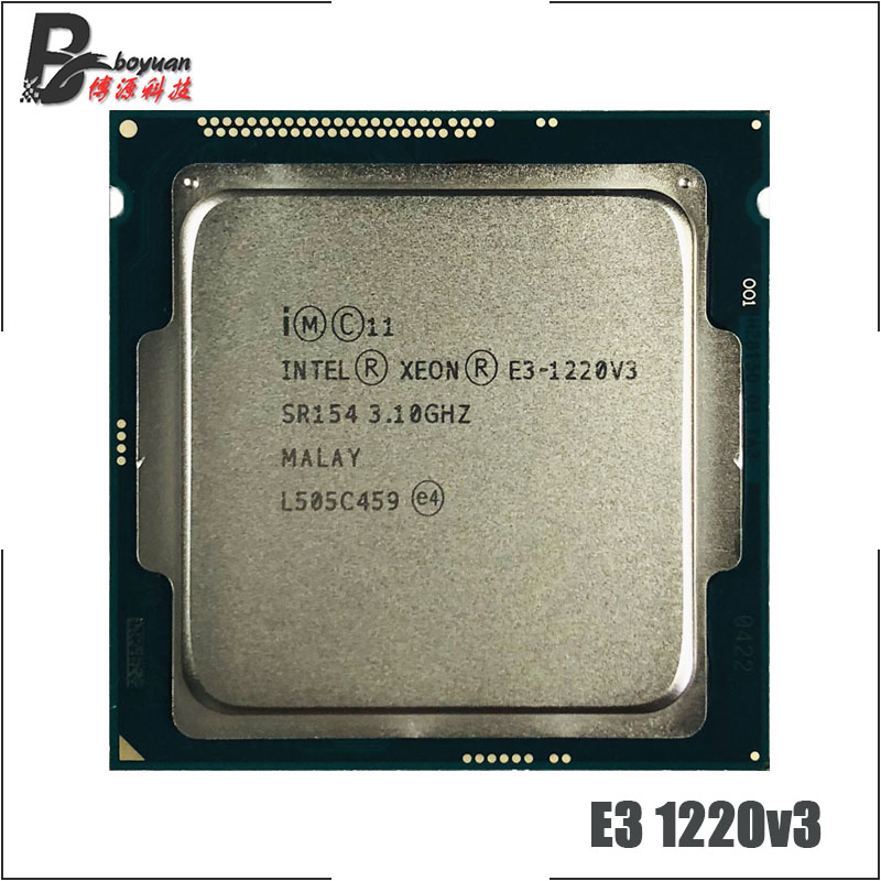 Intel Xeon E3-1220 v3 E3 1220v3 E3 1220 v3 3.1 GHz Quad-Core Quad-Thread CPU Processor 80W LGA 1150
