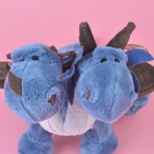 NICI Two Head ICE Dragon Plush Toy for Cute Baby/ Kids Gift, Dinosaur Plush Doll Free Shipping(China)