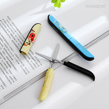 1 Pcs Cute Kawaii Novelty Plastic Deli Paper Quality Kids Photo Album Small Mini Scissors Cutting Tools School Supplies