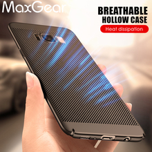 MaxGear Luxury case For Samsung Galaxy S8 S8Plus Hard PC Dissipate heat mesh slim Protective back cover for samsung s8 plus(China)