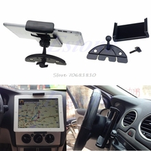 Car Auto CD Mount Tablet PC Cradle Holder Stand For Pad 2 3 4 5 Air for Galaxy Tab Z07 Drop ship(China)
