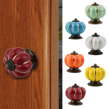 Vintage Round Ceramics Drawer Knob Door Cabinet Cupboard Kitchen Pull Handle Home Furniture Hardware Handles Decoration