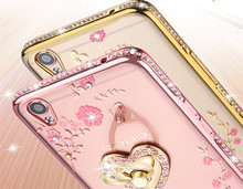 Hot Sale Transparent Case for OPPO Neo 5 Back Cover For OPPO Neo 5 A31 A31T A31 T Flowers Diamond Bling Pattern Mobile Phone Bag(China)